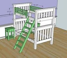 How to build Simple Bunk Bed Plans PDF woodworking plans Simple bunk bed plans Bunk beds diy free woodworking plans free projects Beds may be put up or taken down quickly by use of a simple bolted White Bunk Beds, Twin Bunk Beds, Kids Bunk Beds, Bed Guard Rails, Bunk Bed Plans, Bunk Bed Designs, White Bedroom Furniture, Diy Furniture Plans, Furniture Online
