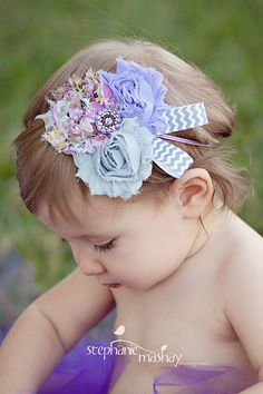 Baby Girl Headbands..Baby Headbands..Newborn Headbands..Sweet Serenity Headband..Photography Prop via Etsy