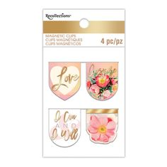 Watercolor-Inspired Magnetic Clips By Recollections™