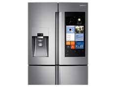 Counter Depth Flex Refrigerator with Family Hub Stainless Steel Counters, Black Stainless Steel, Samsung Dishwasher, Samsung Smart Tv, Door Alarms, Counter Depth, Traditional Lighting, Home Automation, French Door Refrigerator