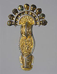 Langobardic fibula, 7th century, Museo Archeologico Nazionale di Cividale del Friuli