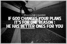 God changes plans
