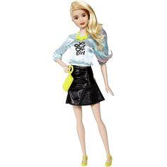 Barbie Fashionista Saia Preta Top Azul L A girl