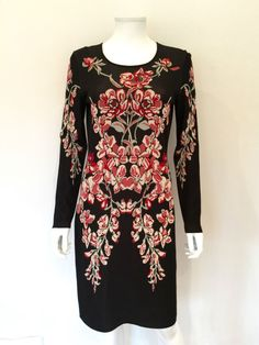 Temperley London Mainline Printed Knit Dress / Black & Red / RRP: £995.00