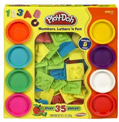 This is a great toy for a preschool or toddler age child! Play-Doh Numbers and Letters Fun Art Toy - Gift Idea for Kids