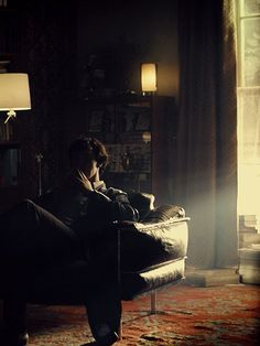 """Not only do I love Sherlock and John and all the other characters, but I also love the cinematography. Every episode has at least one absolutely breath-taking shot. And """"The Great Game"""" has by far probably my favorite shot ever, when the light filters in through the blown-out windows and settling dust. Knocks the wind out of me every time."""