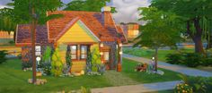 Anzu Cottage - §26,763 Here is a cozy little home for your sims, it's really really small. It has a smol kitchen, 1 bedroom, and a poorly placed bathroom (that your sims will have to walk through to...