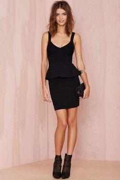 Penelope Peplum Bandage Dress -