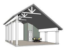RV Carport Plan 006G-0164