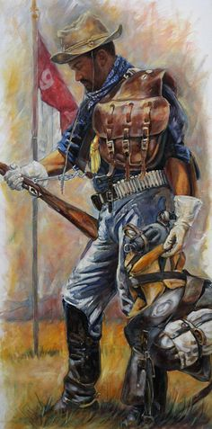 Buffalo Soldier Outfitted Painting