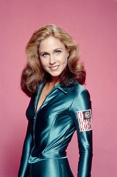 Erin Gray -- Colonel Wilma Deering, Buck Rogers in the Century Sci Fi Shows, Tv Shows, Buck Rodgers, Erin Gray, Space Outfit, Space Girl, Space Age, Star Wars, Female Actresses