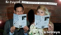 Mini Newspaper Weddi