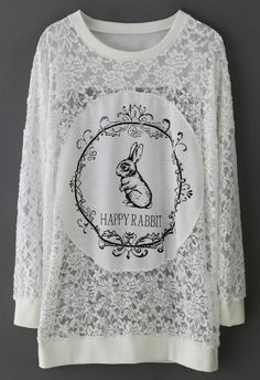 Happy Rabbit Full Lace Top