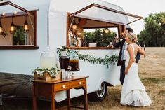 The Wedding Mobile Bar Trend Adds Wedding Decor In the Best Way   Brit + Co
