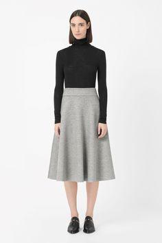 COS | Raw-edge melange skirt.  Let them run circles.