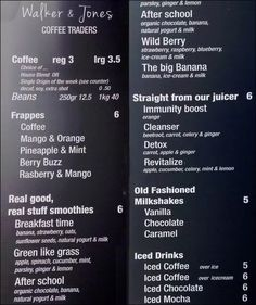 Walker & Jones, North Sydney Menu