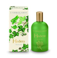 Hedera (Ivy) by L'Erbolario Lodi All natural product line - $42.00 - Fresh, green and relaxing shades with top notes of grapefruit leaves and an ivy dry-down enriched with fine aromas of lentisque.