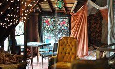 dining room/ blanket fort, via Flickr.