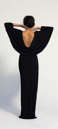 long open back dress