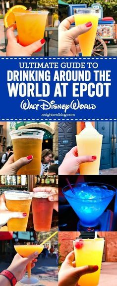 From Magical Stars Cocktails to Lime Frozen Margaritas, our Guide to Drinking Around the World at EPCOT in Walt Disney World! Disney World Essen, Disney World Food, Disney World Parks, Walt Disney World Vacations, Disney Travel, Disney Worlds, Disneyland Vacations, Christmas In Disney World, Halloween At Disney World