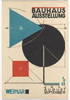 Herbert Bayer. Bauhaus Ausstellung Weimar Juli–Sept, 1923, Karte 11. 1923. Lithograph, 5 7/8 × 3 15/16″ (15 × 10 cm). Committee on Architecture and Design Funds. Photo: John Wronn