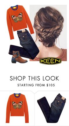 """""""So Fresh and So Keen: Contest Entry"""" by becky-winfield-watson ❤ liked on Polyvore featuring Gucci, True Religion, Keen Footwear and keen"""
