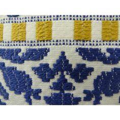 "Plutus Aztec City Handmade Throw Pillow Color Blue/White, Size 20"" x 26"" - Plutus Brands - PB11071-2026-SP"