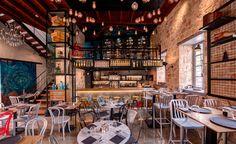 Pio Gastro Bar & Bistro by Kst Architecture / Tokis Group, Antalya – Turkey Pub Design, Design Blog, Restaurant Design, House Design, Retail Design, Store Design, Antalya, Beautiful Interiors, Colorful Interiors