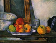 Still Life with Apples by Paul Cezanne, That's a bold statement—even from Paul Cézanne—but the artist was true to his word. Paul Gauguin, Cezanne Art, Paul Cezanne Paintings, Art Paintings, Painting Still Life, Still Life Art, Cezanne Still Life, Still Life With Apples, Henri Rousseau