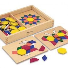 Patrones con figuras geométricas y tableros (tipo Tangrama) | Kukubaya - Juguetes para aprender