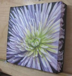Original Painting of Flower Small Acrylic Painting by ShirleyArt