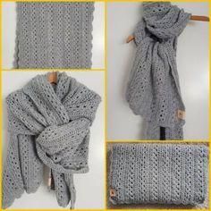 HEERLIJKE SJAAL – Welkom! Crochet Mittens, Crochet Scarves, Shawl, Collection, Mandala, Anna, Wraps, Fashion, Crochet Gloves