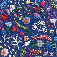 Never enough color! Cactus Embroidery, Flower Embroidery Designs, Silk Ribbon Embroidery, Floral Embroidery, Cross Stitch Embroidery, Embroidery Patterns, Diy Broderie, Quilling Patterns, Satin Stitch
