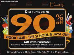 30 Jan-8 Feb 2015: Times Bookstores The School Jaya One Book Fair