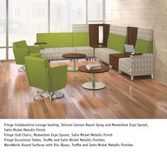 National Office Furniture - Fringe Lounge seating in collaborative/open space area #NationalOffice #FurnitureWithPersonality
