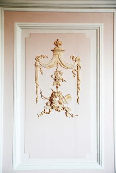 Marie Antoinette walls by emily faulstich Versailles, Maria Theresia, Stencils, Wall Molding, Moulding, French Decor, Marie Antoinette, Pink And Gold, Pale Pink