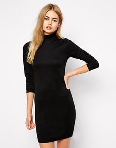Only Textured High Neck Body-Conscious Dress