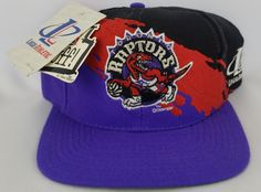c214f0103fe Toronto Raptors Vintage Snapback Logo Athletic Splash Hat NBA Cap Rare NWT Nba  Caps