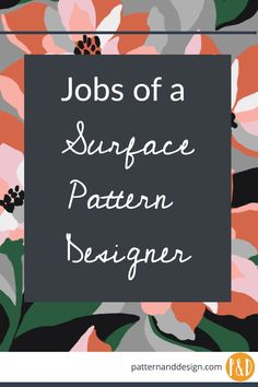 Jobs and careers of a textile and surface pattern designer Have you dreamed of becoming a surface pattern designer? There are lots of different job options including working for a design agent, becoming a freelance designer and working for a design studio Textiles, Textile Prints, Textile Patterns, Print Patterns, Pattern Designs, Textile Art, Design Textile, Design Floral, Fabric Design