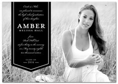 Classic Banner Graduation Announcement from www.papersnaps.com    http://www.papersnaps.com/announcements/graduation-announcements/high-school-and-college-graduation-announcements/classic-banner-graduation-announcement.html    #GraduationAnnouncements