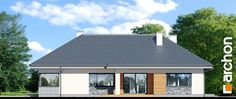 Dom w różach My House Plans, Bungalow House Design, Home Office Design, Sweet Home, Shed, New Homes, Outdoor Structures, Nice, Outdoor Decor