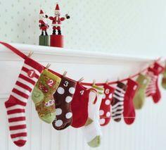Advent kalender van sokken :)