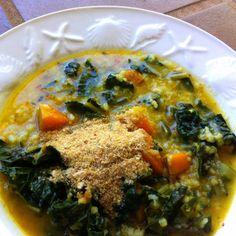 Day 2: Digestive Kitchadi with Pumpkin and Kale