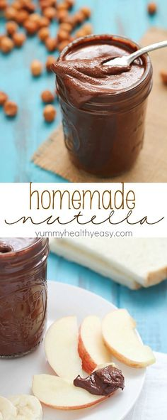Did you know you can make Nutella at home?? It's easy! And dare I say, better than the original? Try it and see! Get this homemade nutella recipe now!