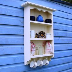 Shabby Chic Tall Traditional Shelf: Amazon.co.uk: Kitchen & Home