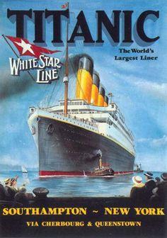 Titanic, White Star Line, 1912