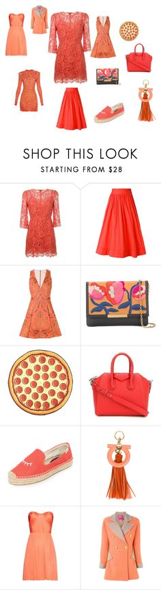 """""""POLYVORE FASHION"""" by emmamegan-5678 ❤ liked on Polyvore featuring Dolce&Gabbana, Blumarine, Alice + Olivia, Lizzie Fortunato Jewels, Givenchy, Soludos, Salvatore Ferragamo, Maria Lucia Hohan, Christian Lacroix and Balmain"""
