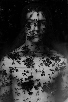 Dark Beauty | black  white photography | beautiful | black lace | veiled | editorial | www.republicofyou.com.au
