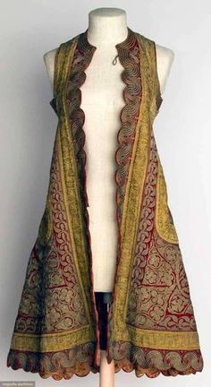 Woman's Sleeveless Coat, Albania, C, Augusta Auctions, November Clothing And Textile, Antique Clothing, Historical Clothing, Beautiful Outfits, Cool Outfits, Vintage Outfits, Vintage Fashion, Sleeveless Coat, Looks Style
