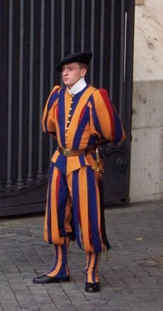 Traditional Swiss Guard uniforms,'